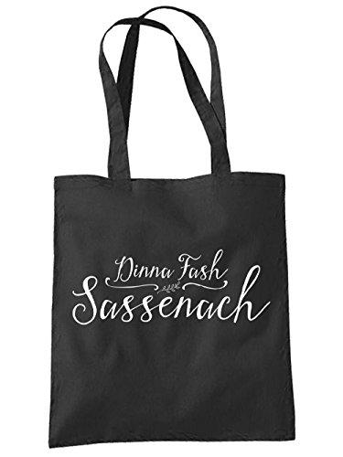 clothinx Einkaufstasche Dinna Fash Sassenach Schwarz