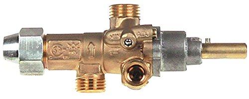 PEL PEL21S - Rubinetto per gas per Lotus TPF4-912GEV, TPF4-912GE, TPF2-912GEV con fiamma di accensione, attacco termico M9x1, asse ø 8 x 6,5 mm