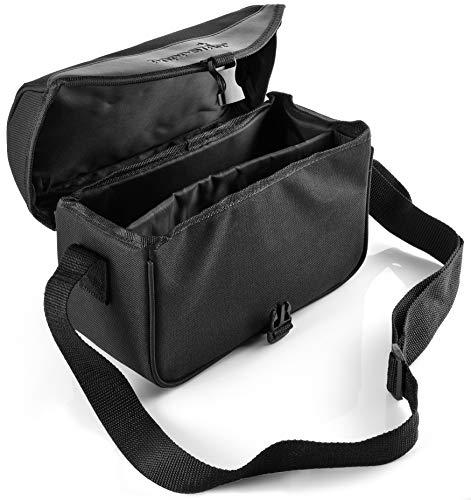 Poppstar Festplattentasche mit Zubehörfach für Externe 8,9 cm (3,5 Zoll) Festplatten,aus schwarzem Nylon