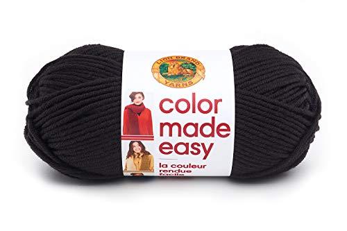 Lion Brand Yarn Color Made Easy Yarn, Caviar