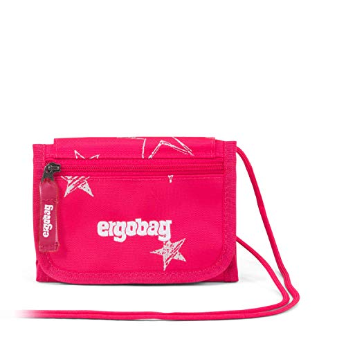 ergobag chest pouch CinBearella, change pocket, window, key ring, Pink