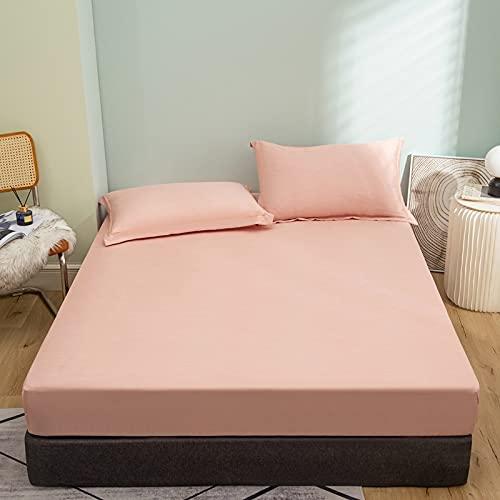 IKITOBI Sábana bajera ajustable, no necesita planchado, muy suave, fácil de cuidar, un par de fundas de almohada