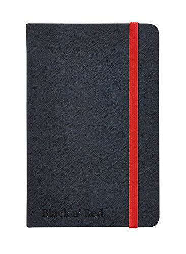 Oxford Black n' Red A4 Hardback Casebound Business Journal Ruled and Numbered 144 Page, 5 Notebooks