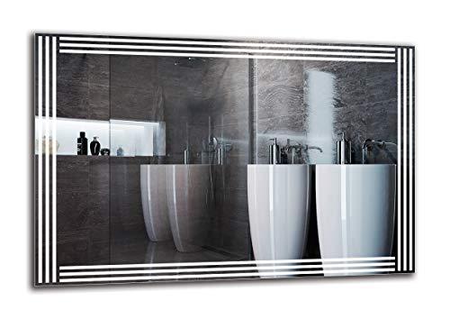 Espejo LED Premium - Dimensiones del Espejo 120x80 cm - Espejo de baño con iluminación LED - Espejo de Pared - Espejo de luz - Espejo con iluminación - ARTTOR M1ZP-51-120x80 - Blanco frío 6500K