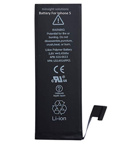 Ininsight solutions 1440mAh Battery for iPhone 5 with 3 Months Warranty