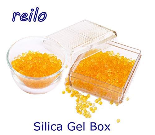 1x Silica Gel Luftentfeuchter Box mit Indikator, regenerierbar, für Cameras usw. (1)