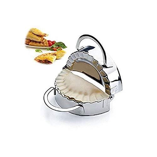 New Edelstahl Ravioli Dumpling Maker Form Wrapper pierogie Pie-Crimper Gebäck Teig Drücken Cutter Küche Gadgets (8,9cm)