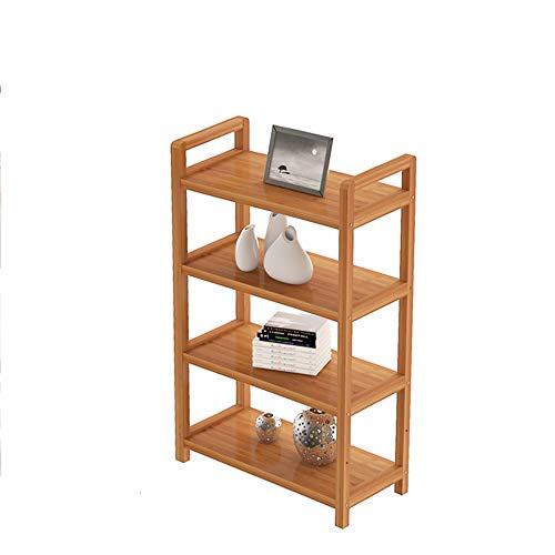 Librerie YANFEI, Scaffale per Libri 4-Tires in Legno massello, scaffali Moderni semplici, Ripiani ad Altezza Regolabile, Colore bambù (Dimensioni : 70 * 25 * 100cm)