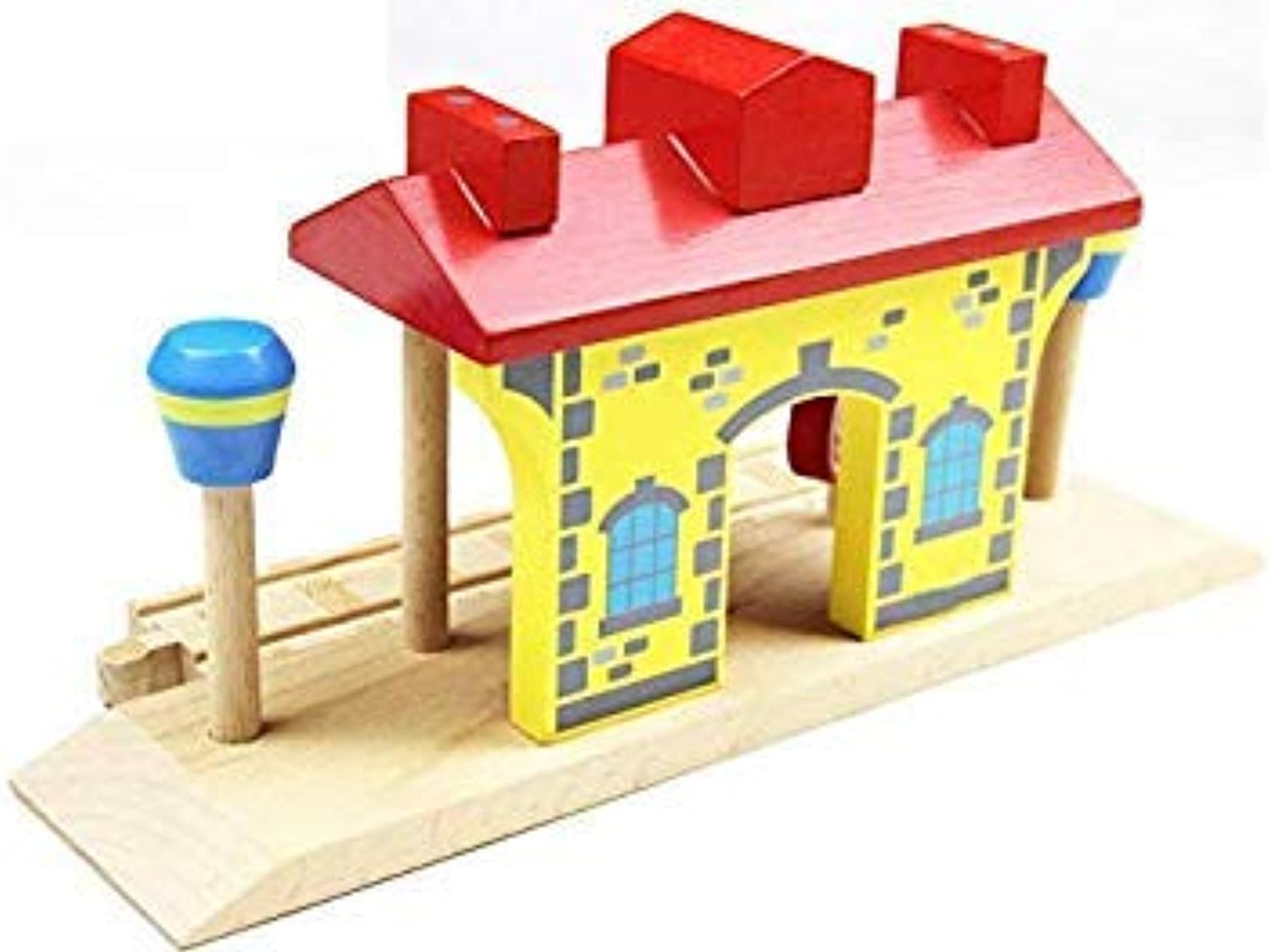 EDWONE All All All Kinds Train Garage Air Staion Wood Track Beech Wooden Railway Train Track Toy Accessories fit for Thomas Biro Long Station 6bf698