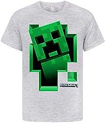 Minecraft Camiseta de Verde Enredadera Dentro de los Niños