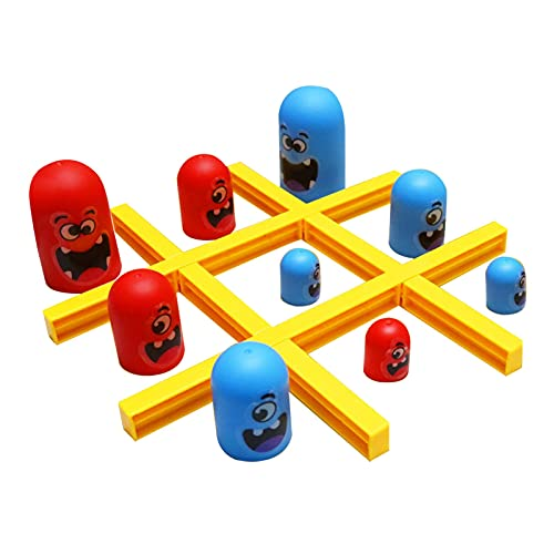 (Big Eat Small) Tic-Tac-Toe Juego, Sorprende Tic Tac Toe, Gobble Game, Juego de mesa Interior, Juegos Familiares Padre-hijo Educación Temprana Interactiva (A)