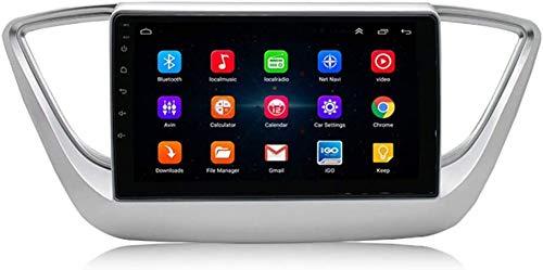 AEBDF Android 9.1 Coche Navegación GPS para Hyundai Verna 2017-2019, 9,0 Pulgadas Coche Radio Stereo Pantalla táctil Pantalla Sat Nav Car Media Player,4Core WiFi 2+32G