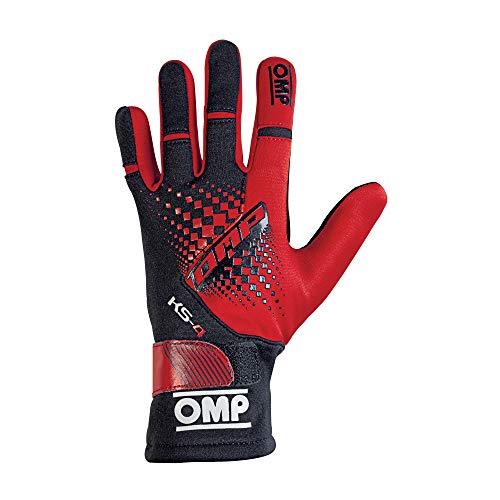 OMP OMPKK02744E060L Guantes, Rojo/Negro, L