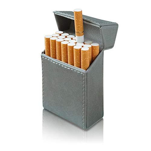 タバコケース メンズ (レザー製) 【 マグネット式でラクラク開閉! キングサイズ20本収納! 】 シガレットケース たばこケース シガーケース たばこ ケース プレゼント 【ZEROSIX】 (グレー)