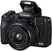 Canon EOS M50 aparat systemowy bezlusterkowy – z obiektywem EF-M 15 – 45 mm IS STM (24,1 MP, obrotowy i wychylny 7,5 cm...