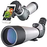 Landove Waterproof Spektiv 20-60X 80mm, High Power mit Stativ & Digiscoping Adapter, stoßfest, beschlagfrei, BAK4 Porro Prisma, voll Multi-Coated Optik (Landove 20-60 x 80 Dual Focus Spektiv)