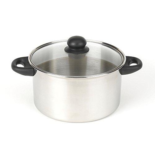 Good Cook 5 Quart Faitout en acier inoxydable avec couvercle