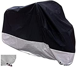 XYZCTEM All Season Black Waterproof Sun Motorcycle Cover,Fits up to 108
