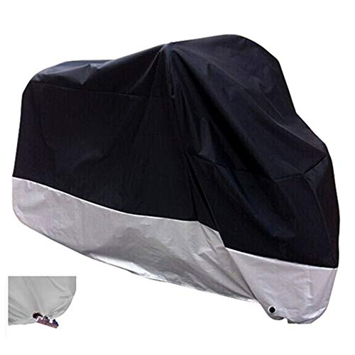 XYZCTEM All Season Black Waterproof Sun Motorcycle CoverFits up to 108quot Motors XX Large amp Lockholes
