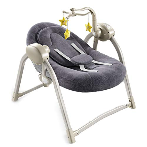BYCDD Electrico Hamacas Para Bebé La cuna, la tecnología Smart Swing ayudan...