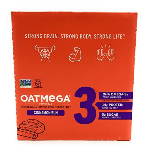 OATMEGA Cinnamon bun Oatmeal Protein Bars, 12...