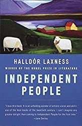 book cover for Independent People ~ books set in Iceland