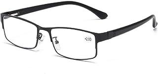 MTYJ Mannen Lente Benen Retro Metalen Frame Verziend Brillen Anti Vermoeidheid Voor Ouders Onbreekbare Klassieke Leesbril...