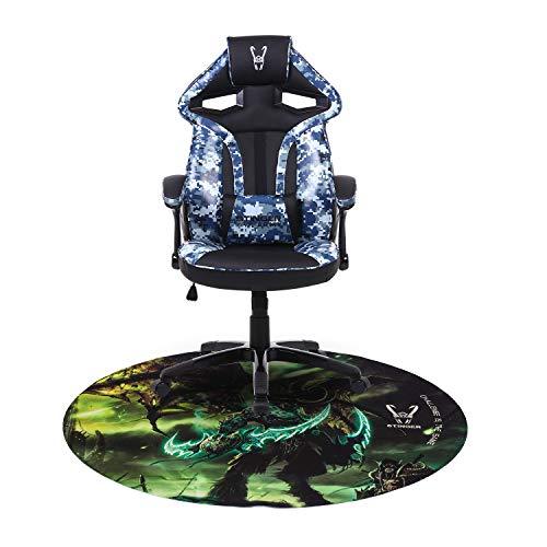 Woxter Stinger Station Army Blue - Silla Gaming(Racing) Eje de Acero +Alfombrilla Gaming de Suelo