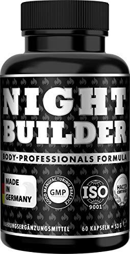 NIGHT BUILDER Booster Komplex für die Nacht und im Schlaf, Nacht-Booster Extrem, 60 Kapseln, Optimales Training ist die beste Voraussetzung für Muskelaufbau und Muskelwachstum