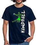 Joueur De Handball À L'Attaque T-Shirt Homme, M, Marine