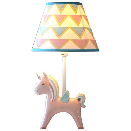 CHAGANA Kinder Tischlampe Einhorn Dimmbar Mädchen Nachtlicht Cartoon Kinderzimmer Dekoration Nachttischlampe Schlafzimmer Geschenk