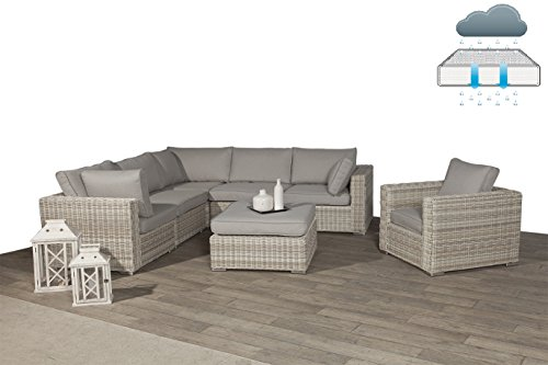 Garden Impressions Poly Rattan Lounge Rubinia Passion Willow mit absolut wetterfesten Kissen, Easy Does It