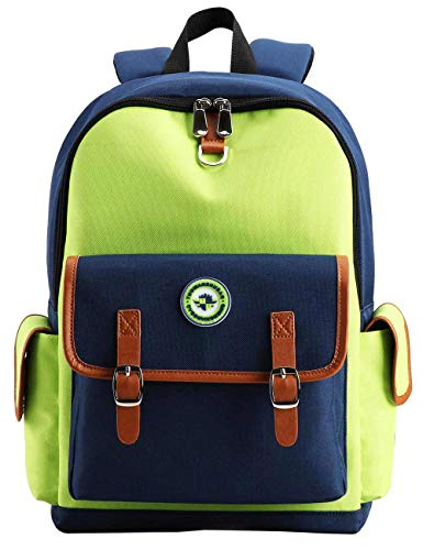 Kids Backpack Children Bookbag Preschool Kindergarten Elementary School Bag for Girls Boys(16182 Large green)