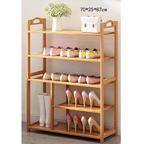 Schuhregal, Bambuslatten Haushalt Home Mehrschichtige Montage Schuhkarton Wirtschaftlicher Typ Schuhbank 100% natürlicher Bambus Schuhablage (Größe: B1)