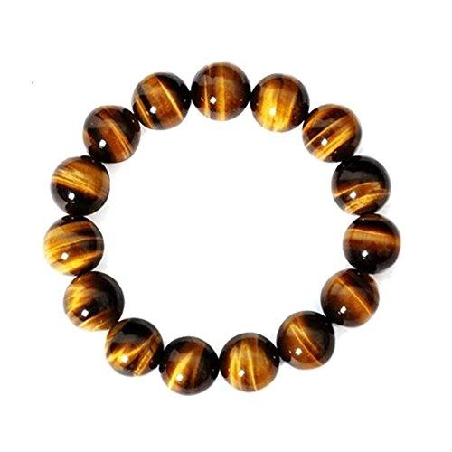 Cool Ring Natural Tiger Eye Stone Sparkly Gemstone Bracelet 8MM Stones Retro Bracelet Charms Women Men Buddha Prayer Beads