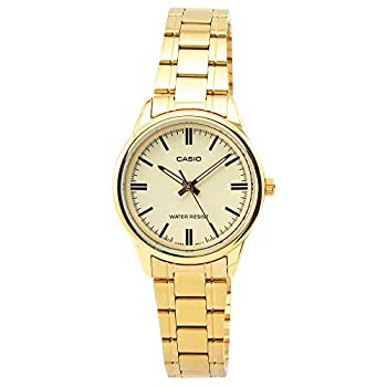 Casio Women s LTP-V005G-9A Gold Stainless Steel Analog Watch