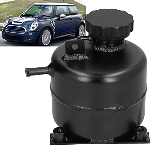 7075 Aluminio, Tanque de depósito de refrigerante Fácil de Instalar Fácil Drenaje para el Tanque de depósito de refrigerante para S Convertible R53 05‑08(A (Black))