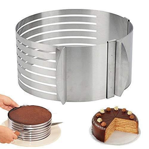 Deer Platz Ring Cutter Layer Kuchen Slicer, Einstellbare Ring 7 Schicht Mousse, Zum leichten Schneiden Von Tortenböden, DIY Runde Brot Backform