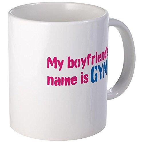 CafePress - My Boyfriends Name is Gym Mug - Unique Coffee Mug, Coffee Cup,...