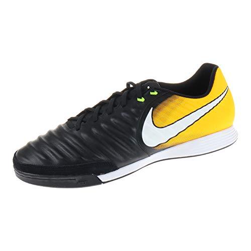 Nike Tiempo Ligera IV Indoor, Scarpe da Calcio Uomo, Nero (Schwarz/Orange Schwarz/Orange), 47 EU