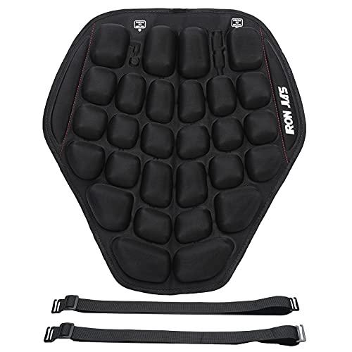 Cuscino per sedile pneumatico per moto Rilievo di pressione Pressa a mano Cuscino per sedile gonfiabile per moto Assorbimento degli urti Protezione per il sedere Comodo per la guida lunga