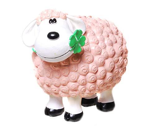 Unbekannt Spardose Glücksschaf Bella Pink mit Kleeblatt Schaf Sparschwein Bauernhof Schäfchen