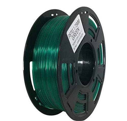 WANGZHI. 2.85mm PETG Filament 1 kg / 0,5 kg Mit Spool Gute Qualität aus Kunststoff PETG 3D-Druck Filament High Strength 3D-Drucker Glühfaden (Color : 500g tran Blue, Size : Kostenlos)