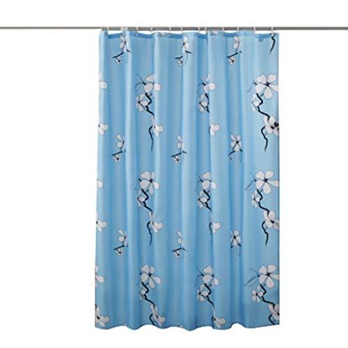 CHQYY Duschvorhänge- Polyester-Duschvorhang, wasserdicht moldproof Bad Vorhang, Bad Partition Vorhang, hellblau Wachs Pflaume Druck Duschvorhang Einfach zu säubern (Größe : 150 * 200CM)
