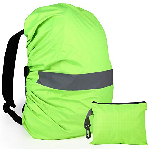 GeeRic Regenschutz für Rucksack und Windabweisend (45L), wasserdichte Regenhülle Rucksack Cover regenüberzug und Rutschfester Schnallenriemen für Camping Wandern Backpack Schulranzen