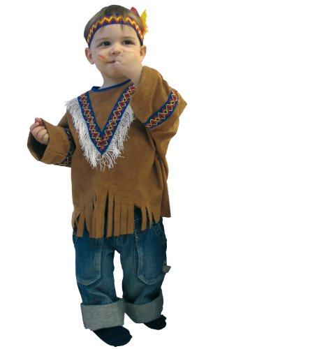 Generique - Déguisement Indien Western Enfant Brun