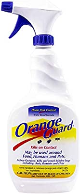 Orange Guard Home Pest Control Spray - Kills and Repels Ants, Roaches, Fleas and More - Indoor/Outdoor Natural Organic Formula - 32 fl oz (2 Pack)