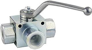"""Válvula de bola de hidráulico, Max. Volumen corriente: 180L/min, 350Bar, de 3Vías, G 1"""""""