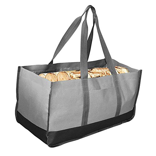 Best Buy! DAMEING Heavy Duty Wood Carrying Bag Indoor Firewood Logs Tote Holder with Handles Oxford ...