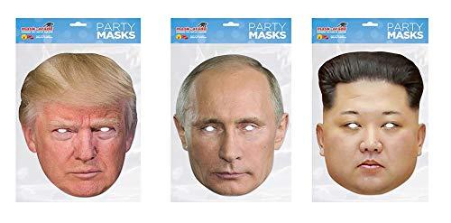 Donald Trump, Vladimir Putin and Kim Jong-un Halloween Face Masks